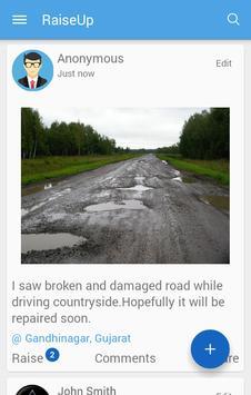 RaiseUp- Report issues nearby! apk screenshot