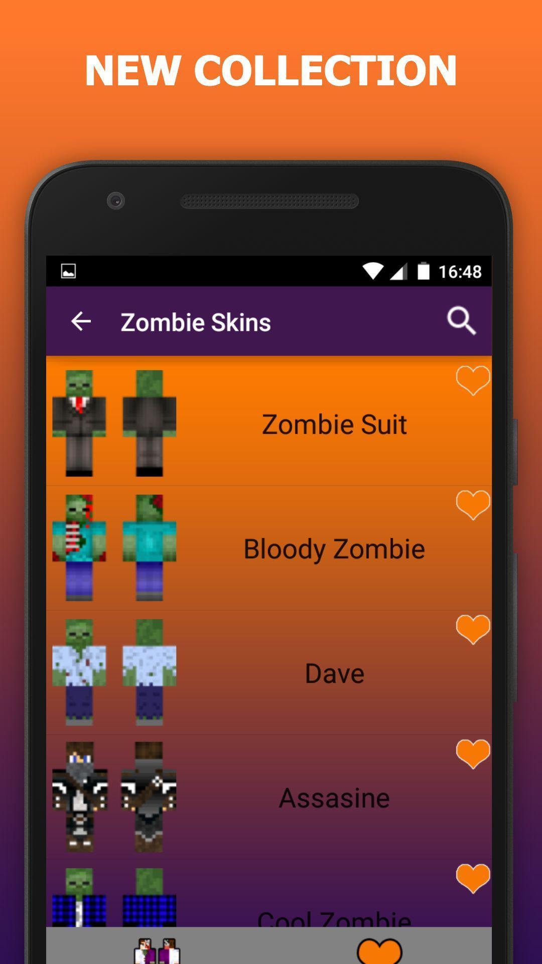 Zombie skins for Minecraft PE para Android - APK Baixar