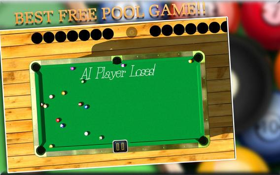 BILLIARDS POOL SLAM 3D apk screenshot