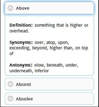 Synonym and Antonym apk screenshot
