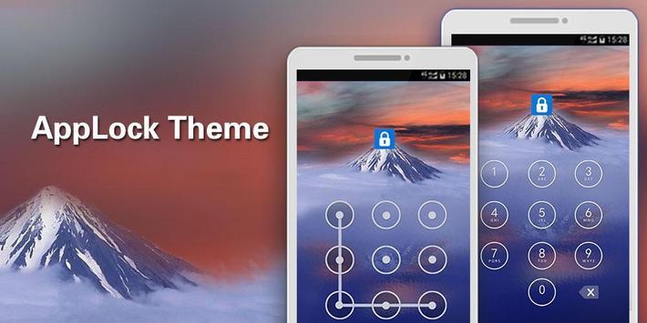 Applock Theme Mountain poster