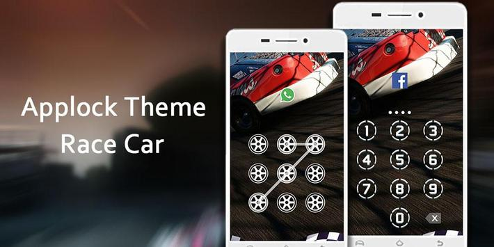 AppLock Theme Race Car poster