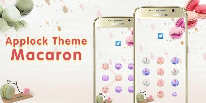 Applock Theme Macaron apk screenshot