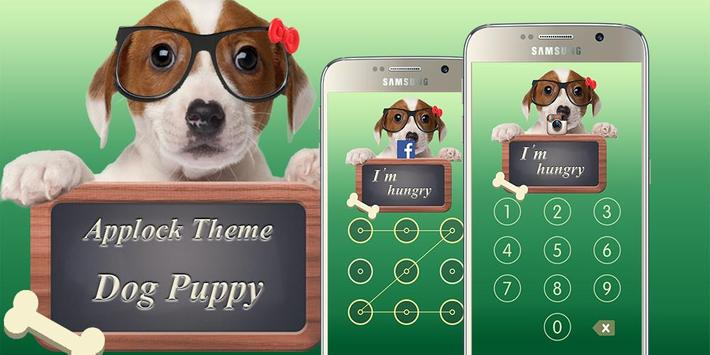 Applock Theme Dog Puppy poster