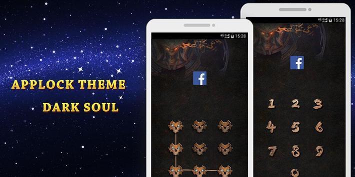 Applock Theme Dark Soul apk screenshot