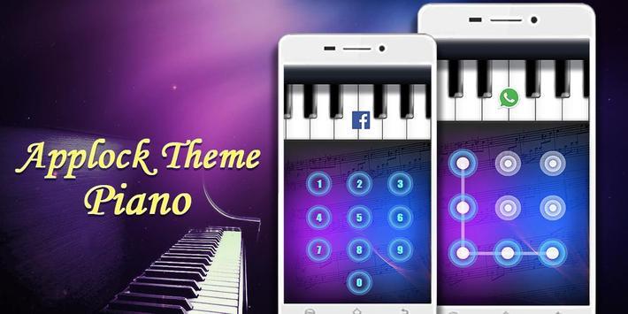 Applock Theme Piano poster