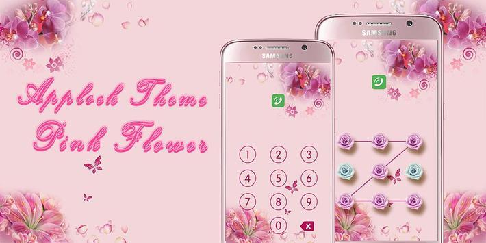Applock Theme Pink Flower poster