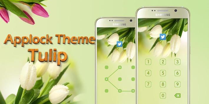 Applock Theme Tulip apk screenshot