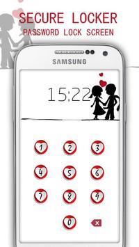 Applock Valentines lock Theme apk screenshot