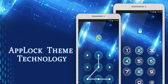 Technology Theme Applock poster