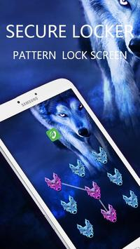 Applock Theme Wolf Night apk screenshot