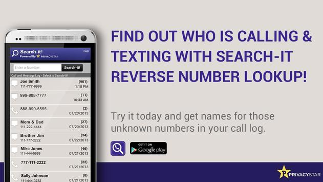 Reverse Phone Number Lookup poster ...