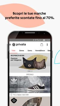 Poster Privalia - Outlet con i migliori marchi di moda