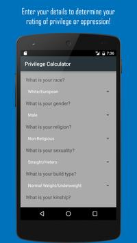 Privilege Checker & Calculator screenshot 1