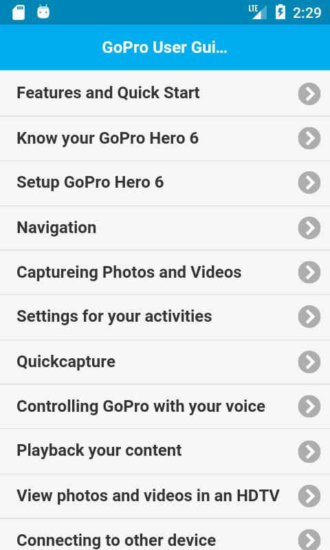 User Guide for GoPro Hero 6 for Android - APK Download