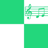 Green and White Piano Tiles icon