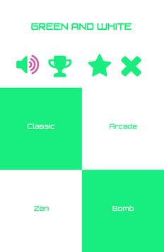 Green and White Piano Tiles apk screenshot