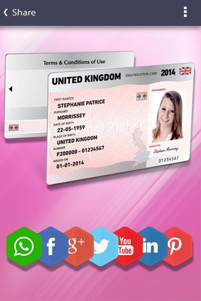 Fake ID Card Generator for Android - APK Download