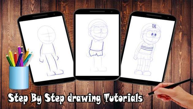 Learn to draw cartoons hatori apk screenshot