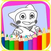 coloring ninja hatori icon
