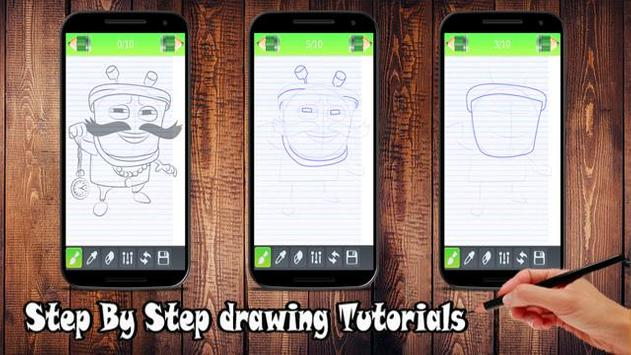 Learn  Draw Design Boboiboy apk screenshot