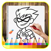 How to draw r titans go icon