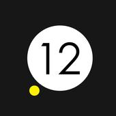 Yellow Dot Clock icon