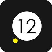 Yellow Dot Clock icon