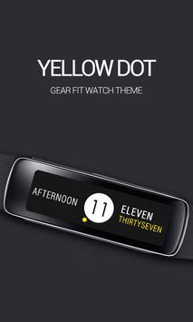 Yellow Dot Clock poster
