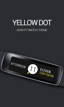 Yellow Dot Clock poster