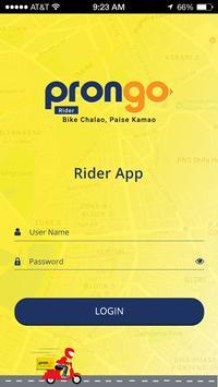 Prongo Rider App screenshot 1
