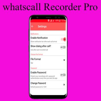 Whats!! The Best Call recorder Pro in 2018 apk screenshot