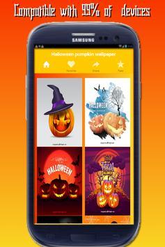 HD halloween pumpkin live wallpaper poster