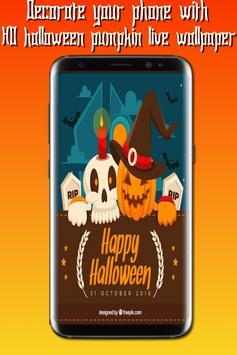HD halloween pumpkin live wallpaper screenshot 2