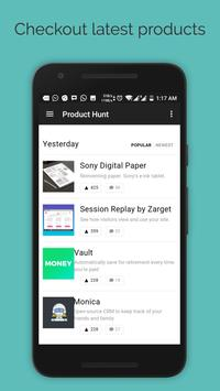 Product Browser for Tech news and Startup news apk screenshot