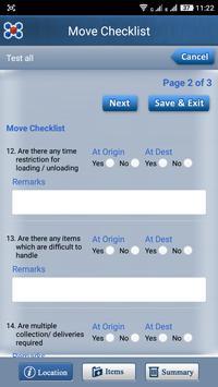 Movegistics™ Survey apk screenshot