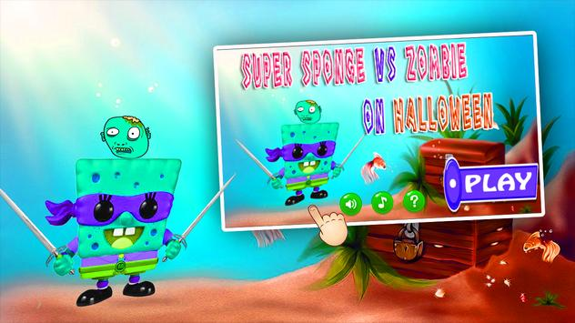 SuperSponge vs HalloweenZombie apk screenshot