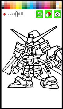Kids Coloring Game For Gundam Poster