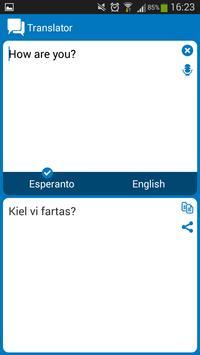 Esperanto - English dictionary apk screenshot