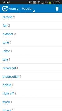 Portuguese -English dictionary apk screenshot
