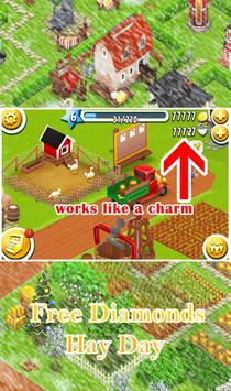 Unlimited Diamonds Hay Day screenshot 1