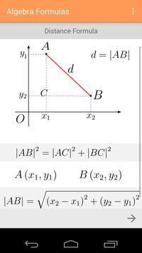 Algebra Formulas screenshot 3