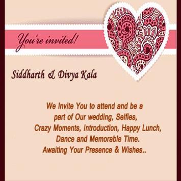 Siddharth Weds Divya Kala apk screenshot