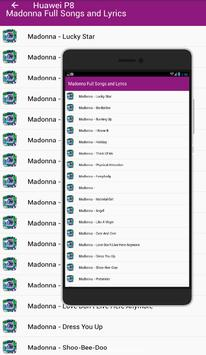 Madonna Full Songs & Lyrics apk screenshot