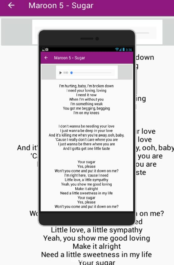 Maroon 5 Full Song Lyrics for Android - APK Download