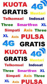 CARA KUOTA INTERNET GRATIS poster
