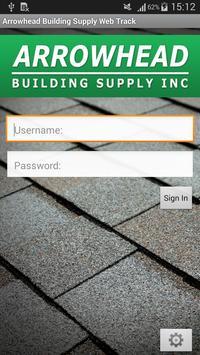 Arrowhead Building Supply Web Track poster