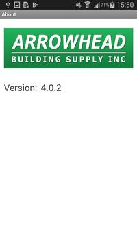 Arrowhead Building Supply Web Track screenshot 3
