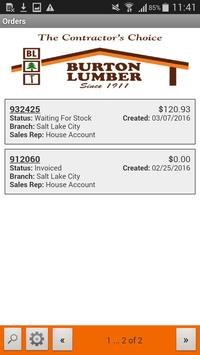 Burton Lumber Web Track apk screenshot