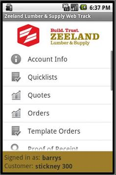 Zeeland Lumber & Supply Web Tr apk screenshot